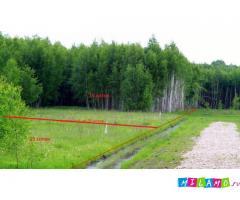Продаётся красивый участок 15 соток , граничит с лесом