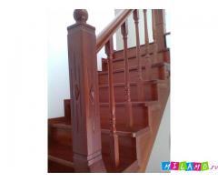 Лестницы различных конструкций из дуба, ясеня, ореха