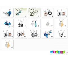 Парные кулоны, браслеты и брелоки для влюбленных