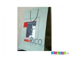 Бумажные пакеты из мелованной бумаги для магазинов и бутиков