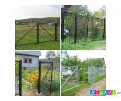 Металлические ворота различных размеров