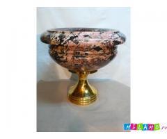 Ваза каминная из яшмы-отличный подарок