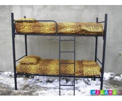 Кровати металлические двухъярусные для казарм