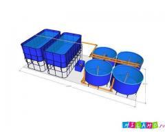 Домашняя ферма для разведения осетра (УЗВ) 1200 кг в год