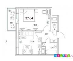 1 комнатная квартира ЖК старая крепость.