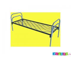 Кровати металлические с сеткой из прокатной пружины для домов отдыха, пансионатов