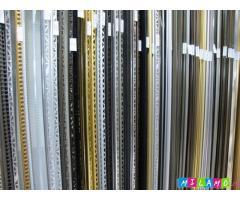 Декоративные профили, раскладки для плитки, плинтуса металлические, порожки