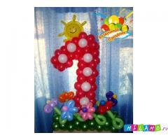 Оформление воздушными шарами в Уфе. Доставка шаров.