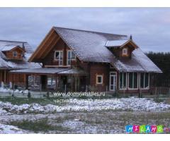 Деревянные рубленые дома, бани